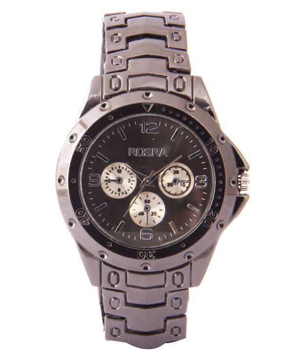 Rosra rsr 003 blk men watch buy rosra rsr 003 blk men watch online at best prices in india on for Rosra watches