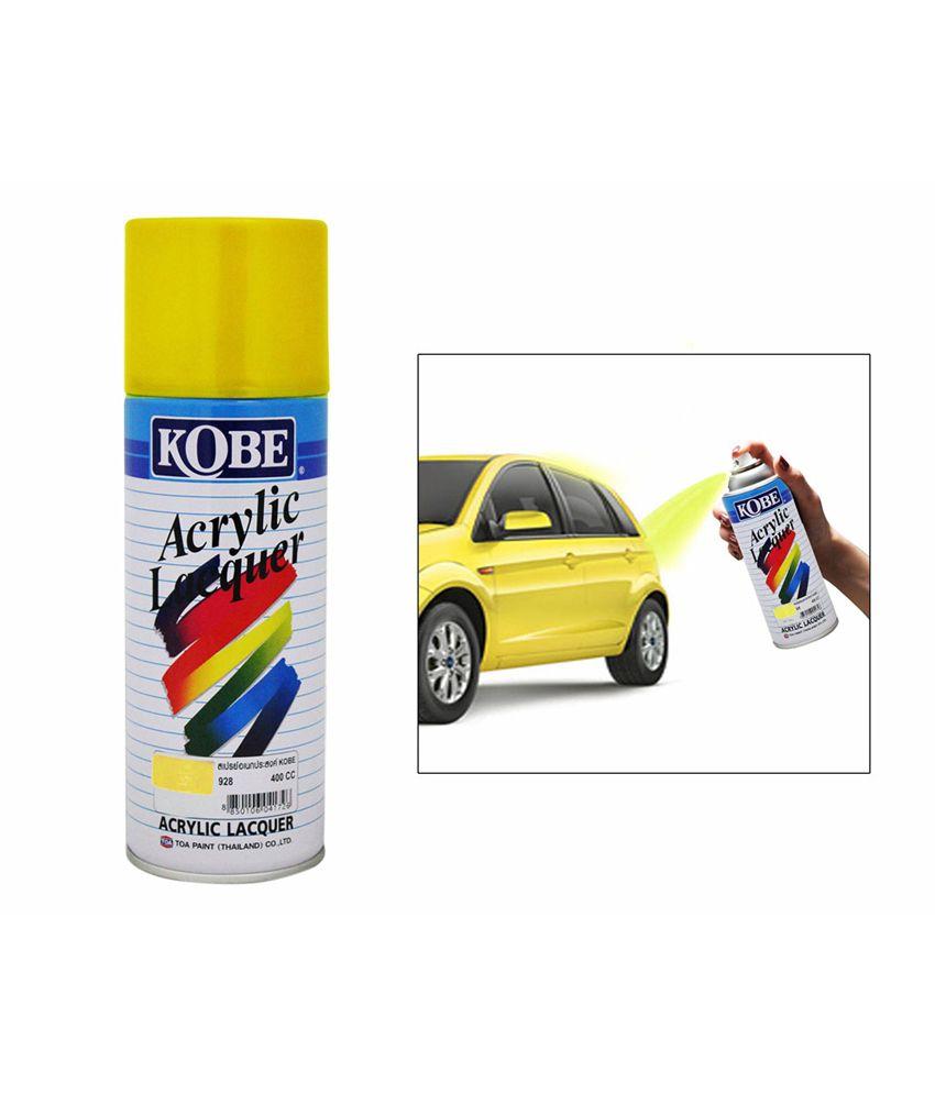 kobe car touchup spray paint 400ml yellow mitsubishi. Black Bedroom Furniture Sets. Home Design Ideas