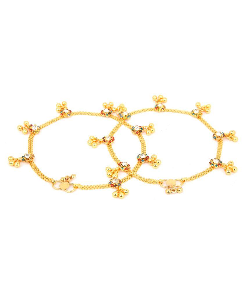 Sindoora Gold Style Diva Alloy Anklet