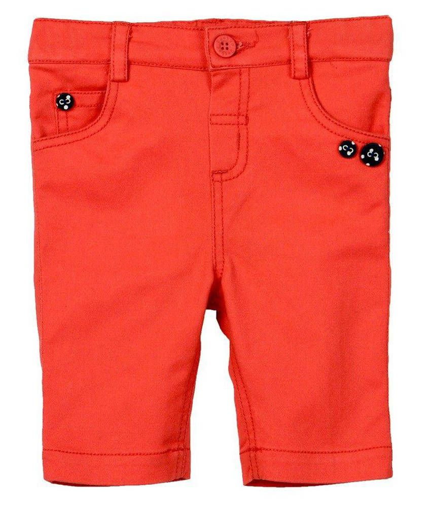 Beebay Cotton Red Solids Capris