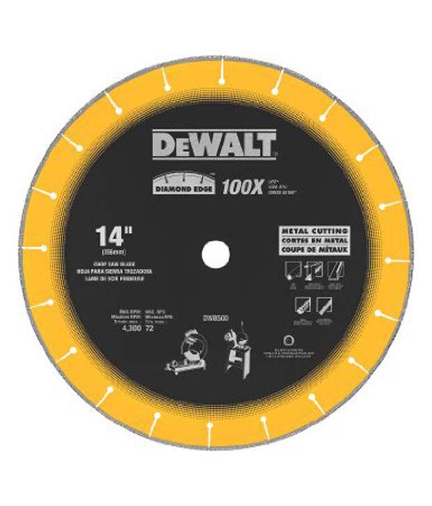 Dewalt DW-8500 14-inch Iron Chop Saw Blade