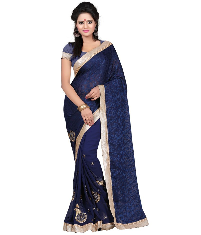 Indian House Blue Brasso Saree