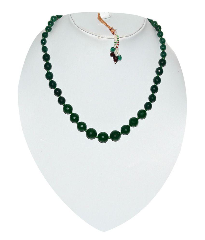 Kcj green onyx designer necklace