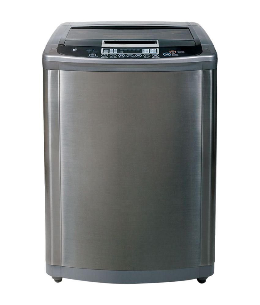 LG 7.0 Kg T8067TEEL5 Top Load Fully Automatic Washing Machine - Stainless Silver