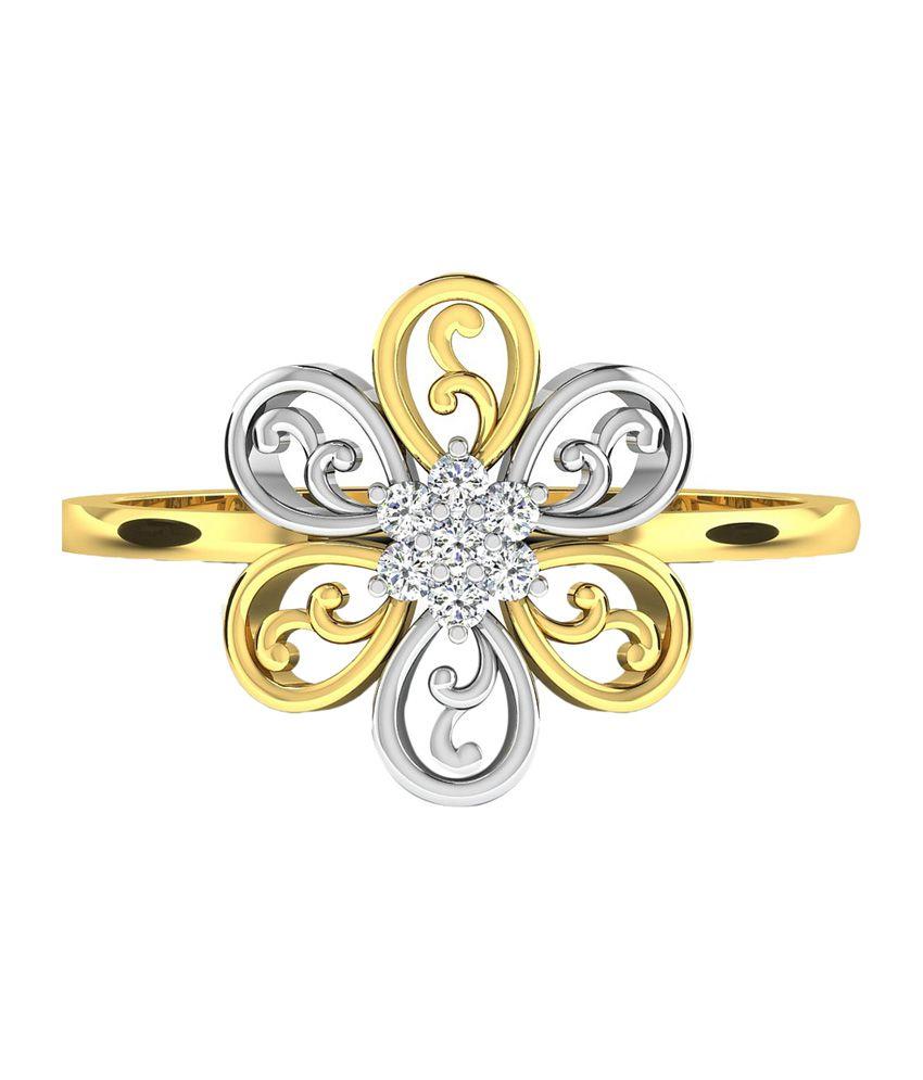 Sparkles 18Kt Gold Wedding & Engagement Ring