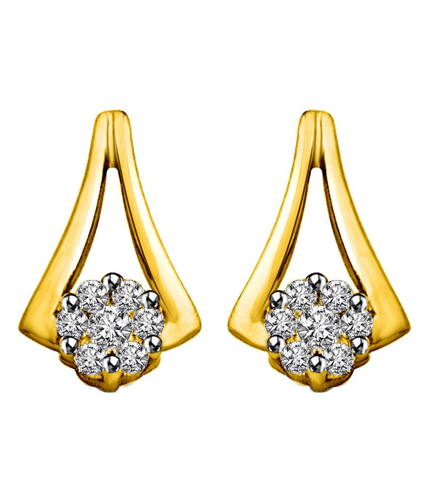 Surat Fragrence of my Love 0.28ct Diamond & Gold Earrings