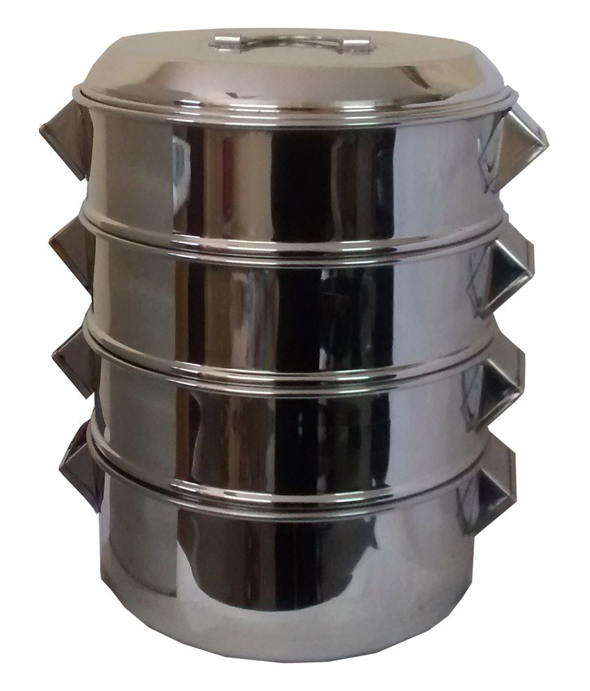 thw hotelware commercial use four tier stainless steel momo steamer rh snapdeal com