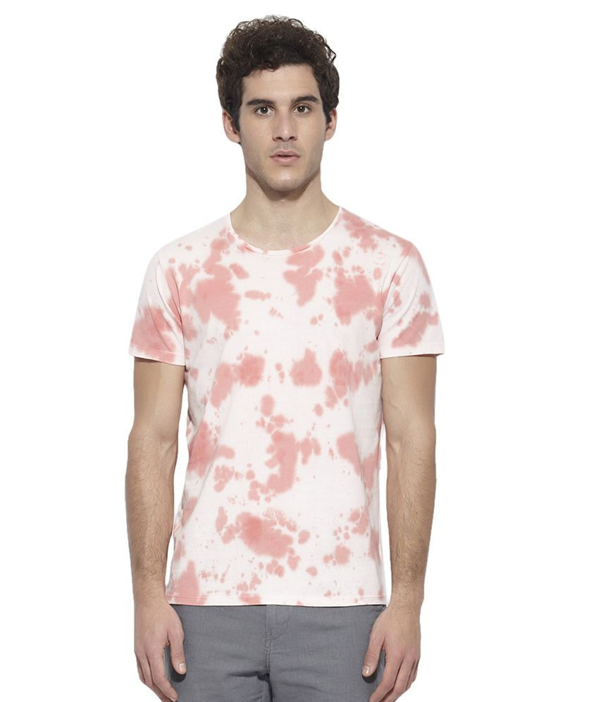 United Colors of Benetton PeachPuff Round Neck T Shirt