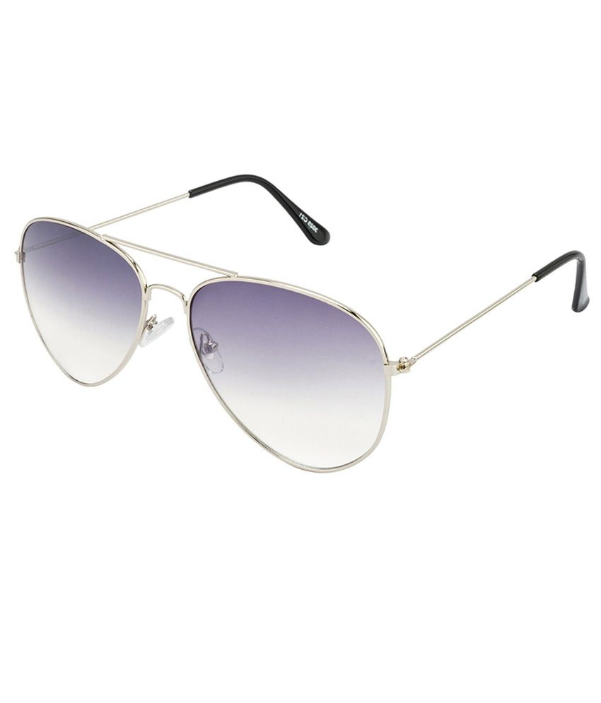 BeYou Silver Aviator Frame With Light Grey Double Color Lenses