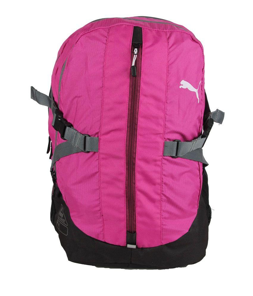 puma pink polyester backpack for men buy puma pink