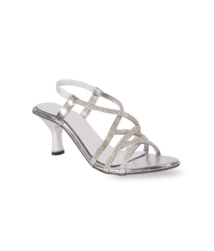 Harshit Footwear Medium Silver Chain Heeled Sandals