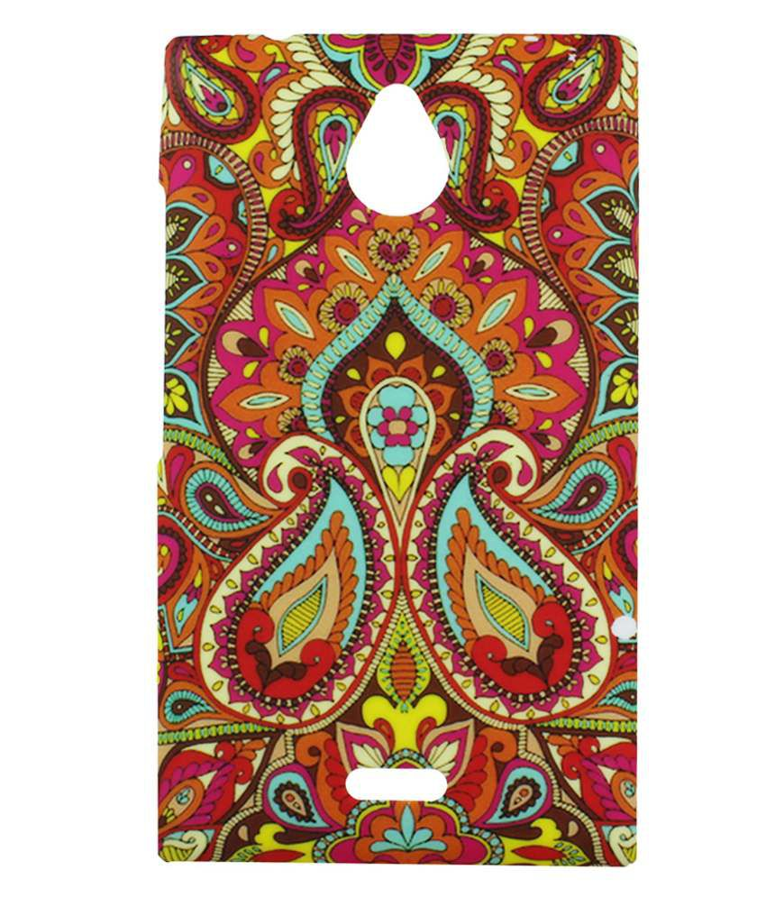 Heartly Aztec Tribal Art Printed Retro Color Armor Bumper Back Case Cover For Nokia X2 Dual Sim RM-1013 X2DS - Colorful Mehndi