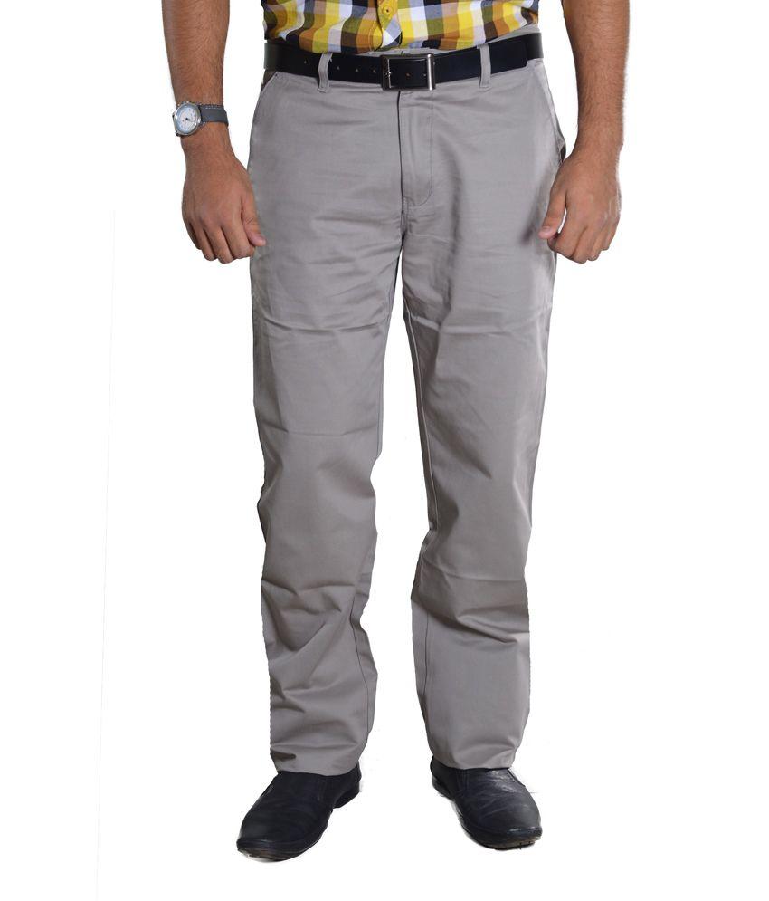 Studio Nexx Light Gray cotton chinos Men's trouser