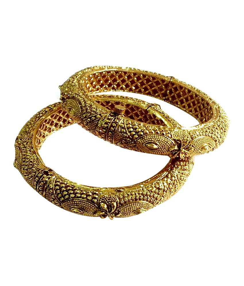 Bhavani Enterprise Gold Antique Designer Antique Bangles