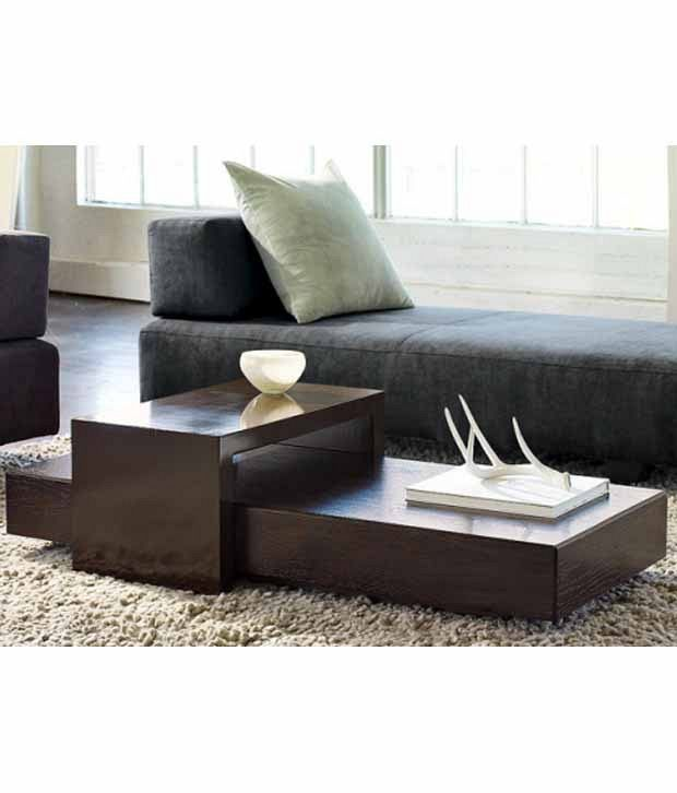 Dream Furniture Center Table Rectangle Shape Brown
