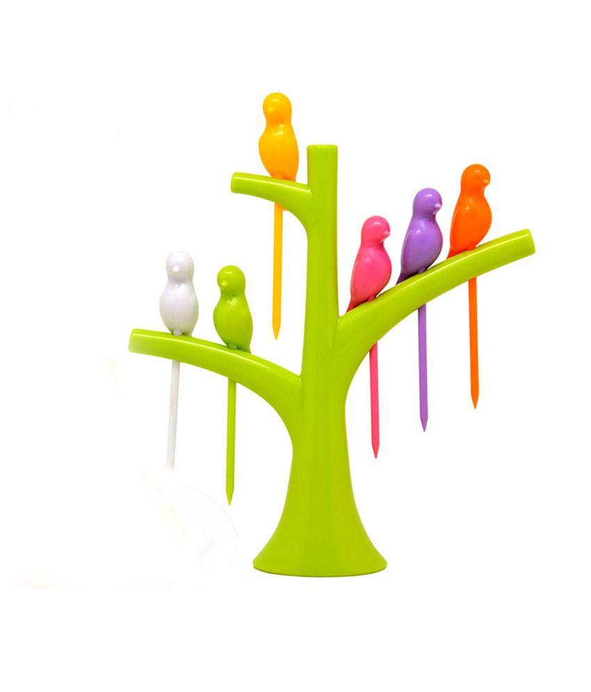 Mohan MultiColour Acrylic Birdie Fruit Fork