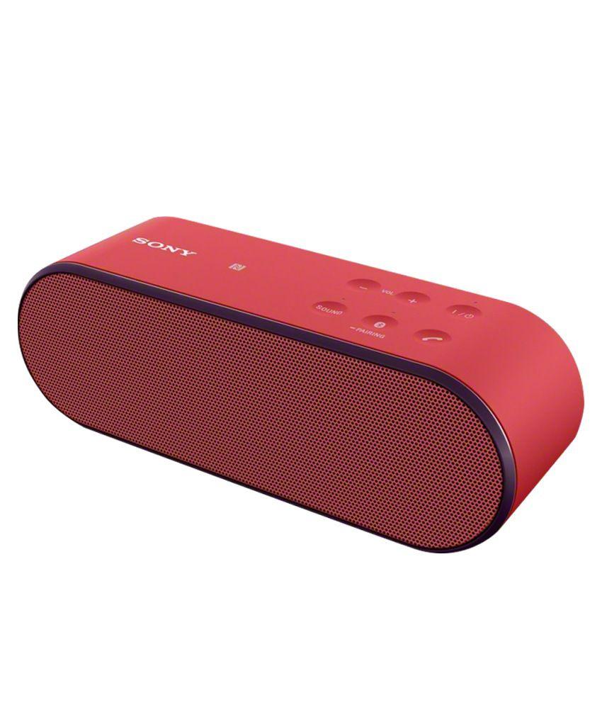 Sony PUMPX (SRS-X2) Ultra Portable Bluetooth Speaker - Red