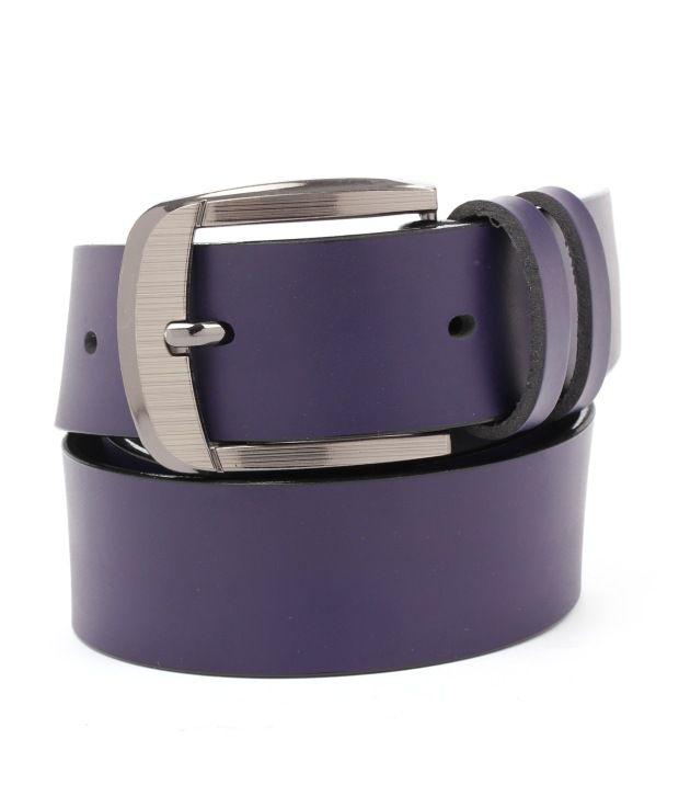 Tryzion Men Exclusive Purple Belt With Sunglass Combo