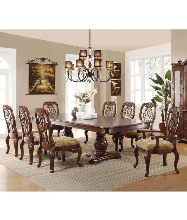 dream furniture teak wood 8 seater ractangle luxury dining table set rh snapdeal com
