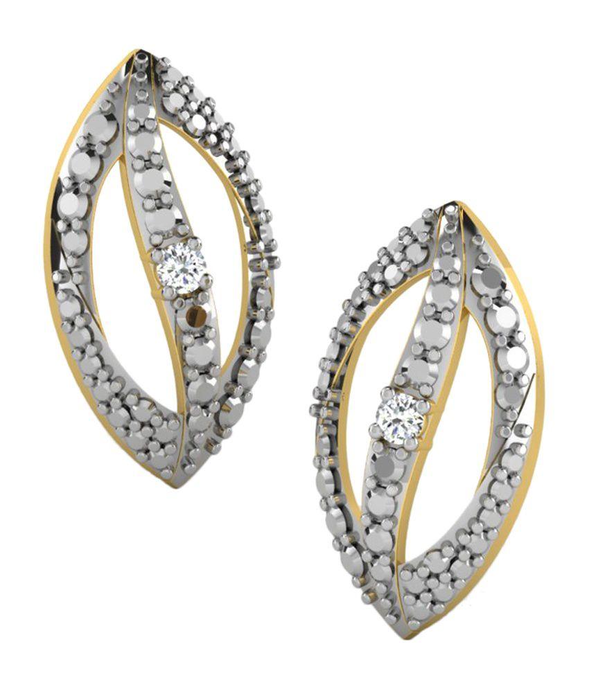 Sparkles 0.02 Ct Diamond Earrings in 18kt Gold T11480