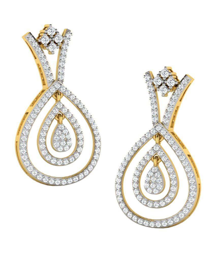 Sparkles 1.2 Ct Diamond Earrings in 18kt Gold T11059