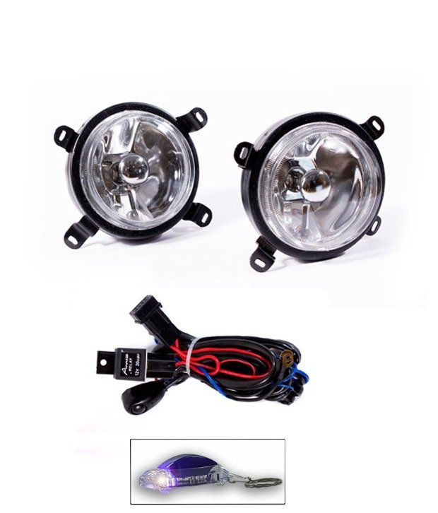Uneestore Annexe Hyundai Santro Xing Fog Light Lamp Set Of