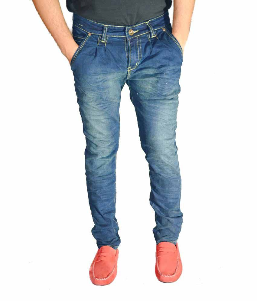 Pepe Jeans Blue Cotton Skinny Fit Jeans