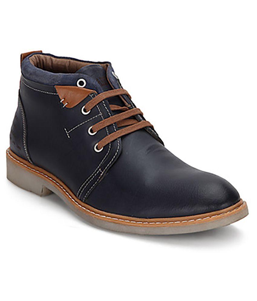 Buckaroo Men's Blue Brogan Leather Boots