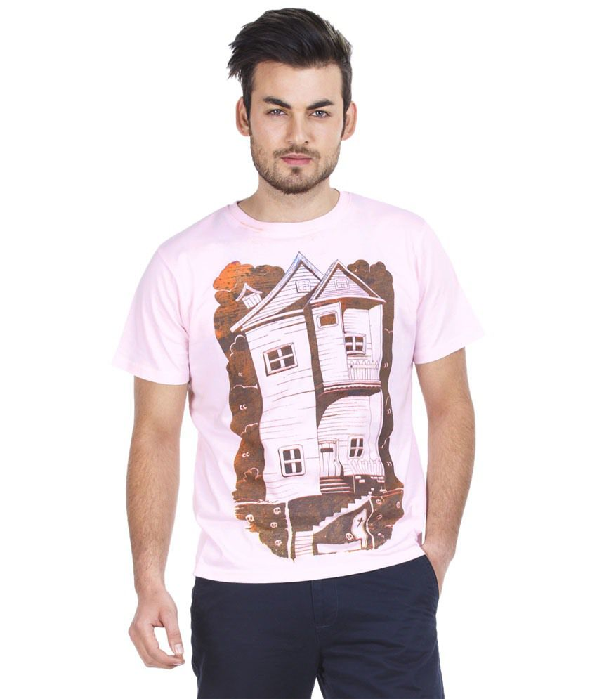 Zovi Stylish Pink & Brown T Shirt
