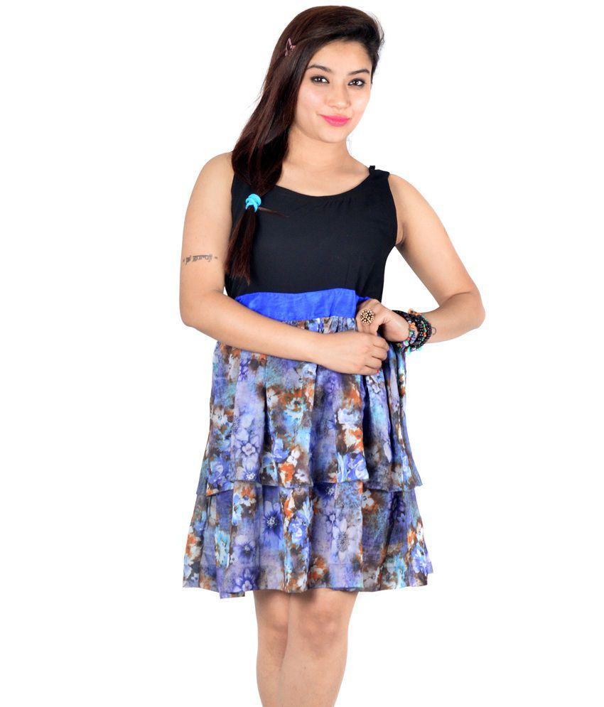 Fabrizia Multi Color Georgette Dresses