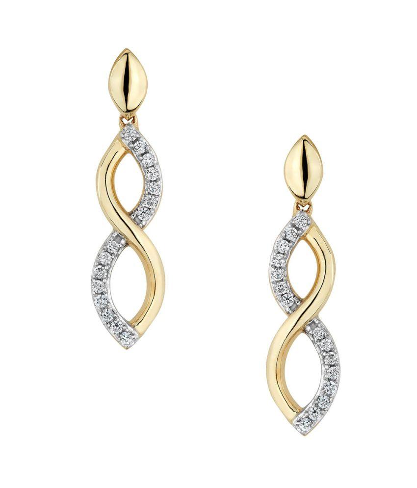 FacetzInspire Real Diamond 92.5 Sterling Silver Earring - FISER03