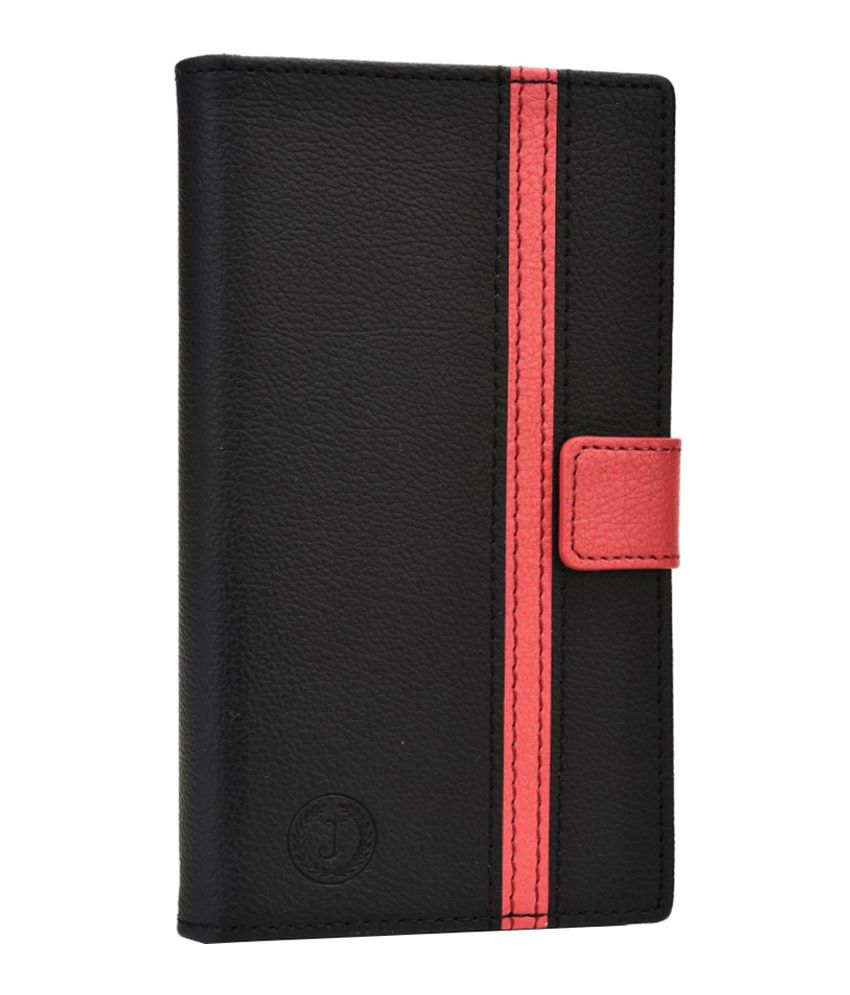 Jo Jo Cover Pluto Series Leather Pouch Flip Case for Motorola RAZR MAXX - Black