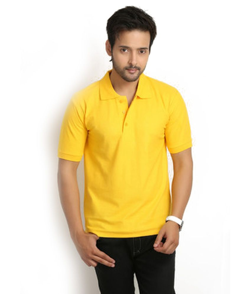 Knit & Knot Yellow Cotton T-Shirt