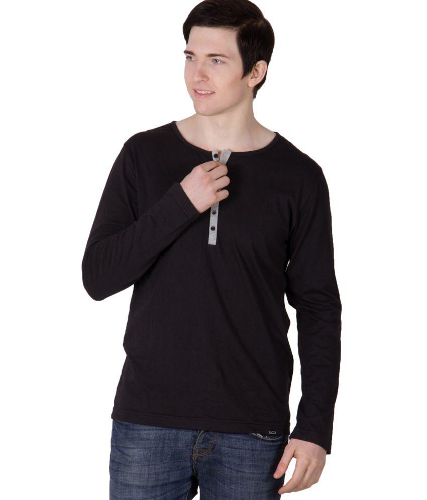 Rigo Black Cotton T Shirt