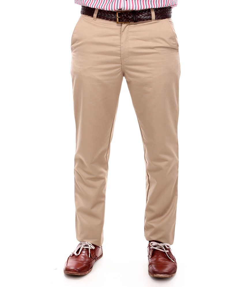 Syntel Off White Rich Cotton Trousers