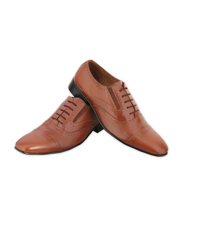 038d8fa3f05d Boysen s Brown Leather Lace Formal Shoes for Men Price in India- Buy  Boysen s Brown Leather Lace Formal Shoes for Men Online at Snapdeal