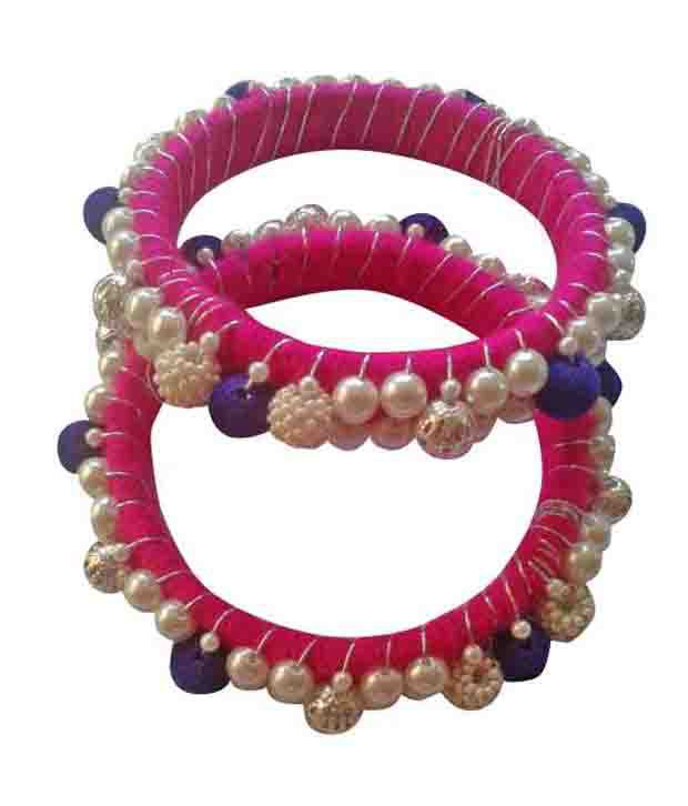 Human Collection Pink Party Pair Of Bangles