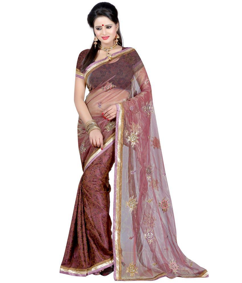 Indian House Brown Net Saree