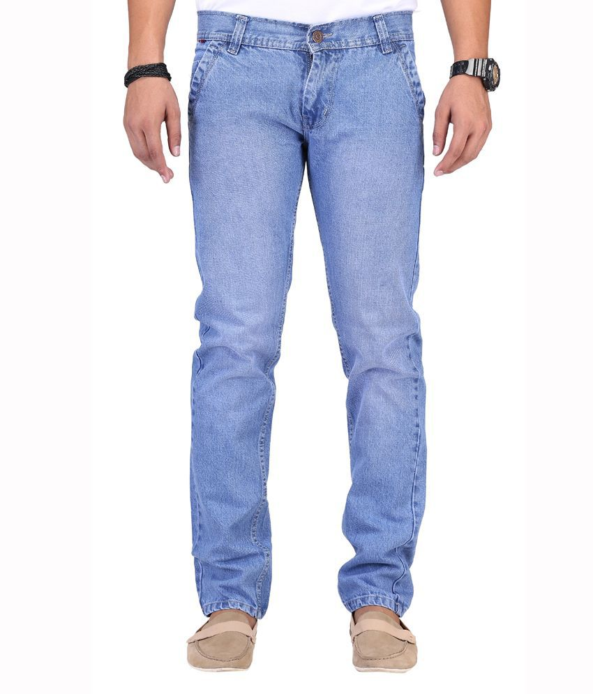 Ansh Fashion Wear Blue Cotton Strechable Jeans