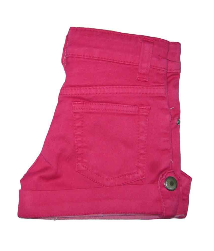 Kandy Kids Pink Cotton Shorts