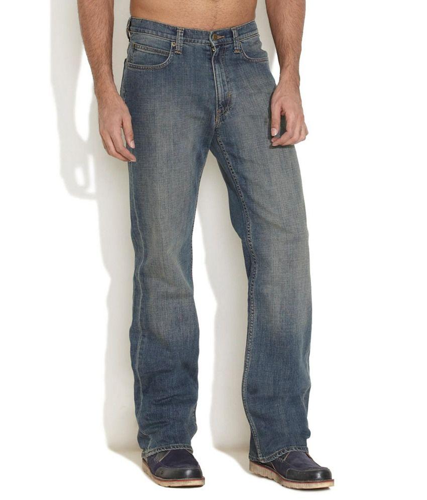 Lee Blue Regular Cotton Jeans