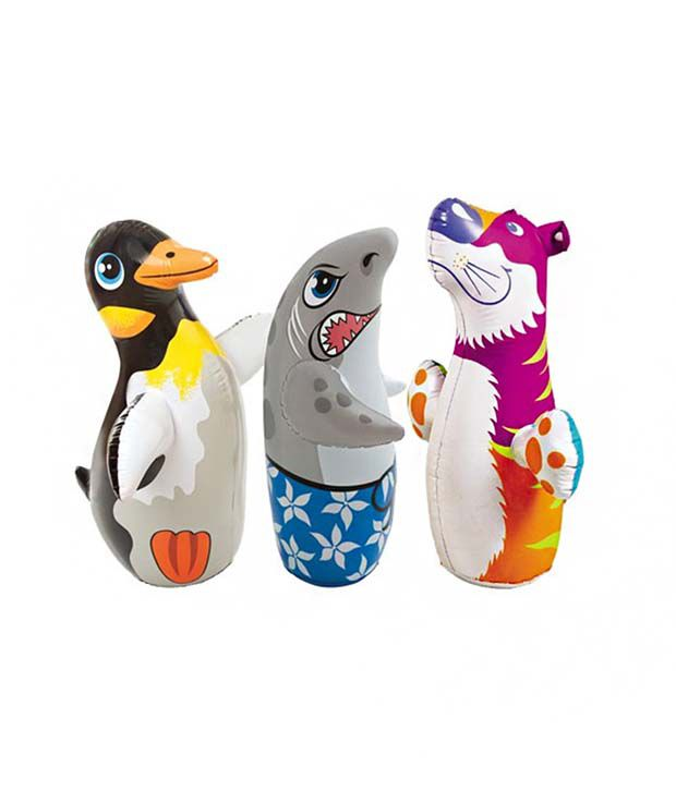 Intex Inflatable Intex Air Toy Of Tiger with Shark and Penguin for Baby Combo
