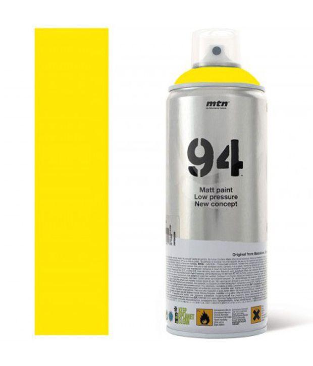 montana spain mtn 94 spray paint 400ml light yellow buy online at. Black Bedroom Furniture Sets. Home Design Ideas