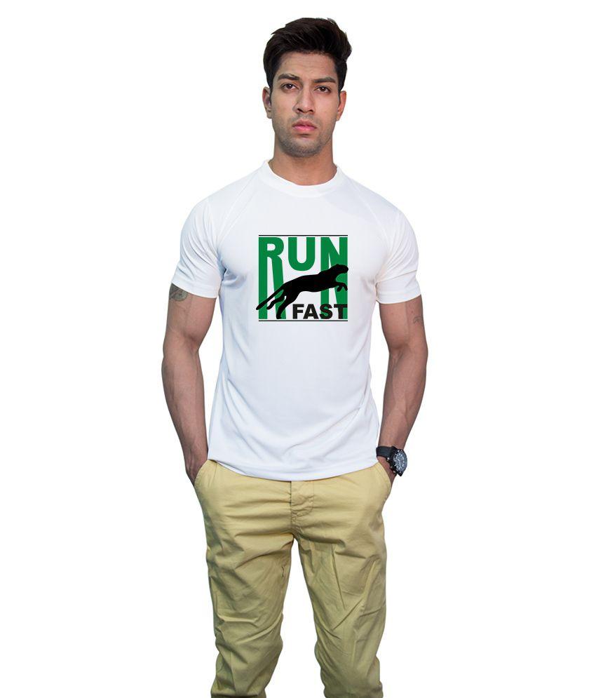 Printland Effit Run Fast White T Shirt