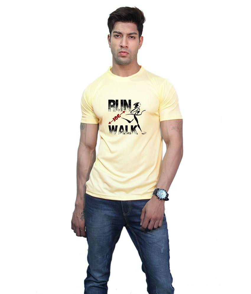 Printland Effit Walk Yellow T Shirt