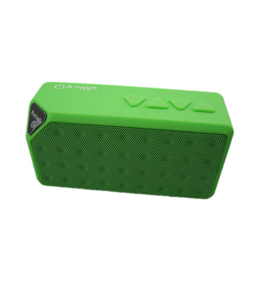 Anwyn Btx3 Wireless Bluetooth Speaker With Mic And Usb Cable - Green