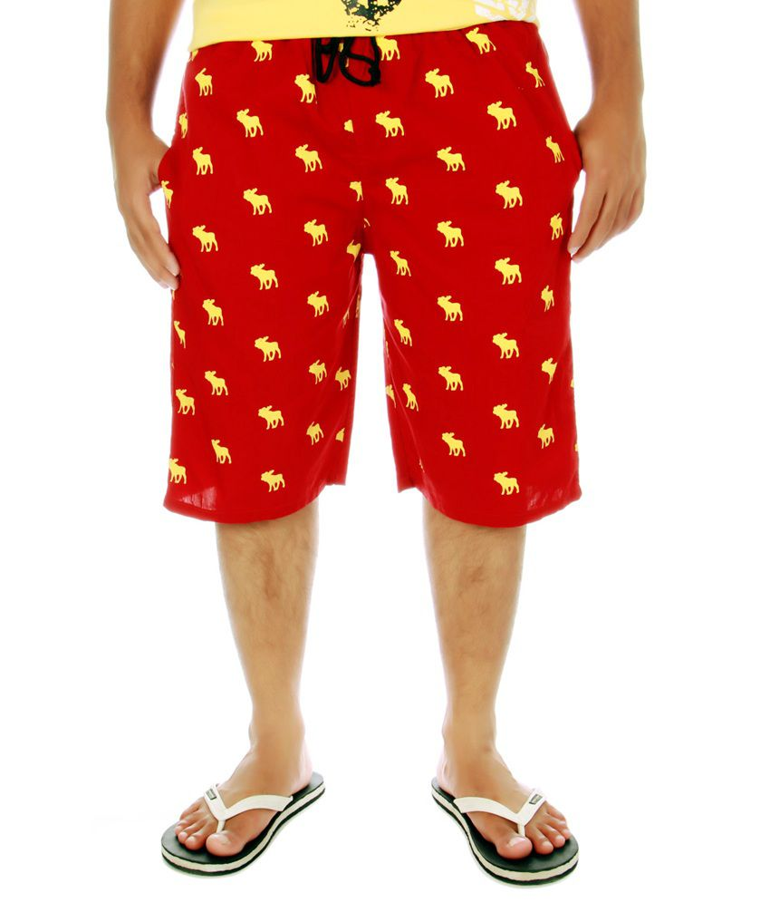 J Marks Printed Men's Short_Red