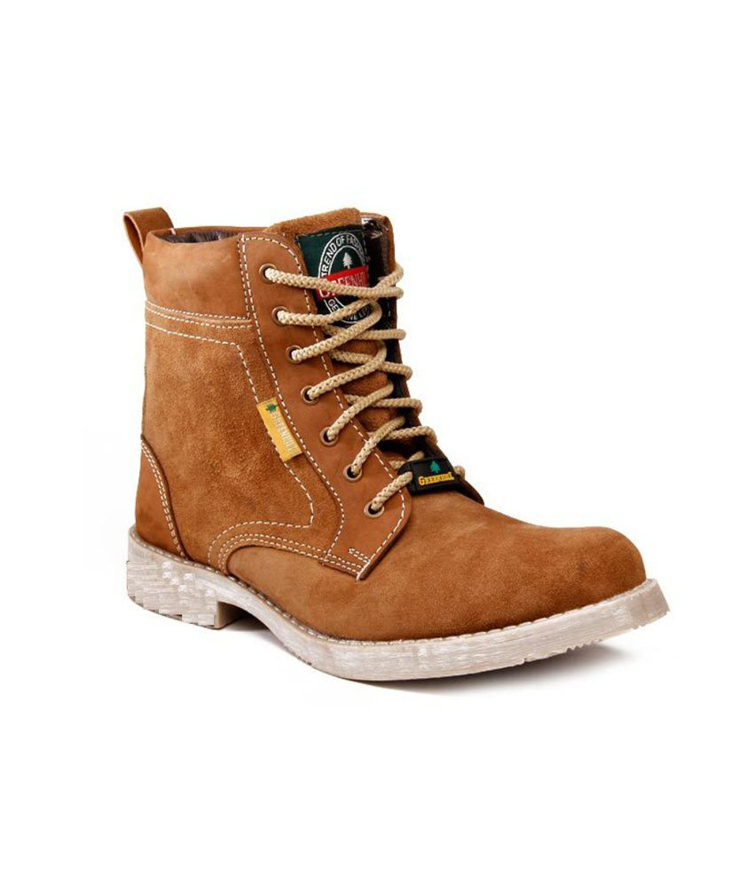 Timber Wolf Tan Lace Suede Leather Boots