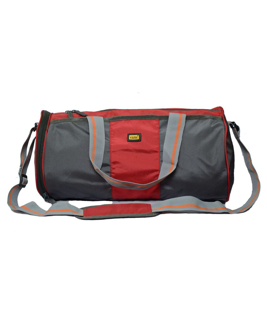 Yark Red Medium Polyester Gym Bag