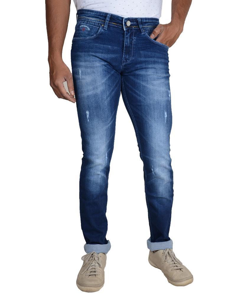 Oxford Denimz Blue Cotton Regular Fit Jeans